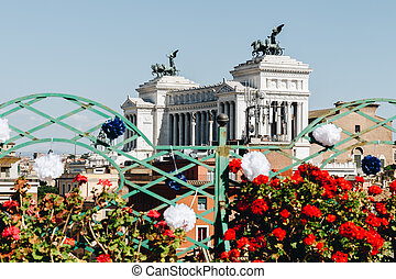 Altar of the Fatherland, Altare della Patria, also known as the National Monument to Victor Emmanuel II, Rome Italy