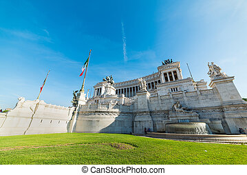 Altar of the fatherland in Piazza Venezia in Rome, Italy