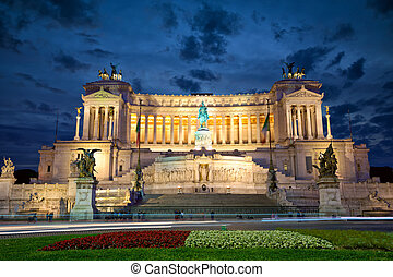 Altar of the Fatherland - temple honoring Italy's first king...