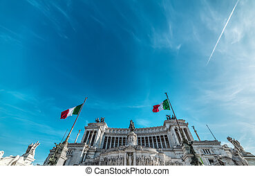Altar of the fatherland under a blue sky