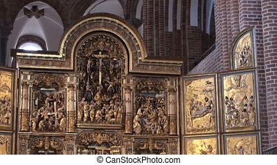 Altar piece at the Cathedral of Roskilde, Copenhagen, Denmark