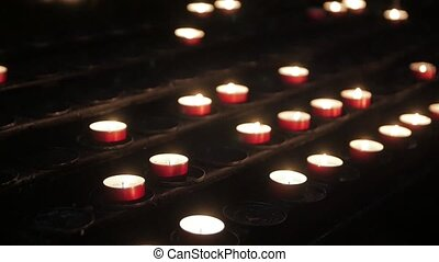 Altar With Prayer Candles