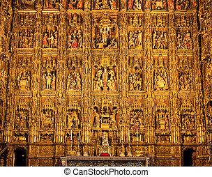 altarbild, kathedrale, sevilla
