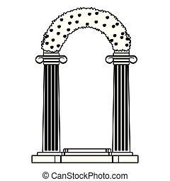altare, bianco, icona, nero, matrimonio