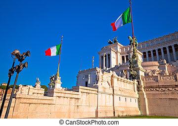 Altare della Patria in Rome view, eternal city, capital of Italy