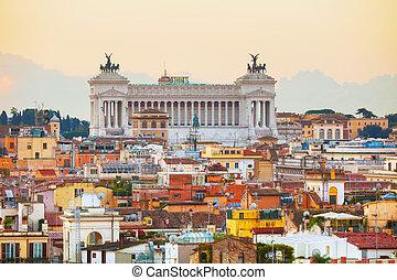 Altare Della Patria monument in Rome, Italy