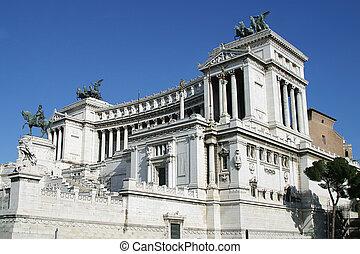 the Altare della Patria or Monumento Nazionale a Vittorio Emanuele II in Rome, Italy