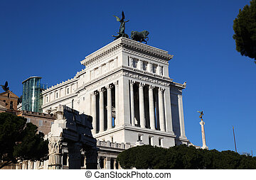 the Monumento Nazionale a Vittorio Emanuele II or Altare della Patria, Altar of the Motherland is a monument built to honour Victor Emmanuel, the first king of a unified Italy, located in Rome, Italy