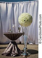 altare, patio, matrimonio