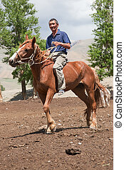Altay man on a horse