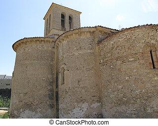 alte kirche, stadt, von, segovia, spanien