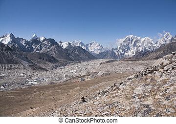 alte montagne, di, nepal