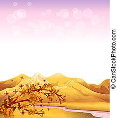alte montagne, fiume, fluente