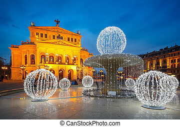 Frankfurt Alte Oper at Cristmastime, Germany