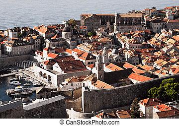 alte stadt, dubrovnik, adriatisches meer, kroatien