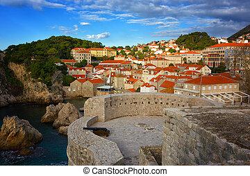 alte stadt, dubrovnik, oberseite, kroatien, ansicht