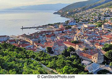 alte stadt, von, senj, kroatien