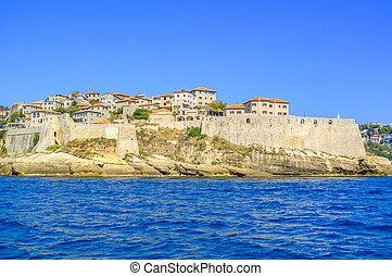alte stadt, von, ulcinj, montenegro