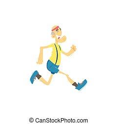 alter mann, jogging