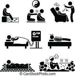 alternado, terapias, terapêutico