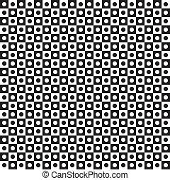 alternando, círculos, azulejos, buracos, seamless, pretas, ...