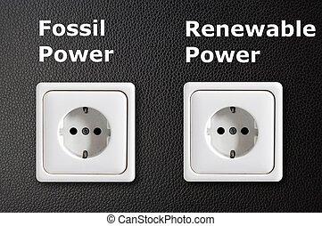 alternatief, concept, energie