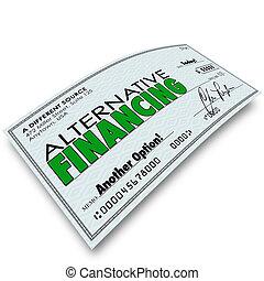alternatief, financiering, controleren, leen geld, lening,...