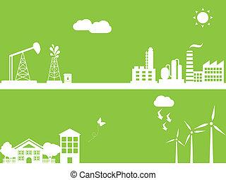 alternatief, groene, energie