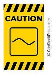 Alternating Current AC Symbol Sign Isolate On White Background,Vector Illustration EPS.10