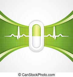 alternativ, concep, medicinsk behandling, grön