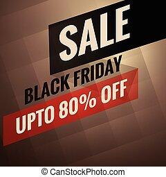 alternativ, fredag, försäljning, rabatt, svart, baner