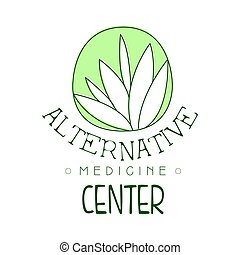 alternativ medicin, centrera, logo, symbol, vektor, illustration