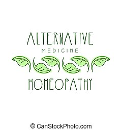 alternativ medicin, homeopathi, logo, symbol, vektor, illustration