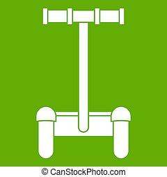 alternativ, transport, fordon, ikon, grön