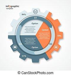 alternativ, vektor, runda, cykel, industri, infographics., topplista, drev, affär, infographic, grafer, pastej, annat, processes., mallar, diagram, kartlägga, cirkel, stil, 3, sätta, steg, kartlägga, särar
