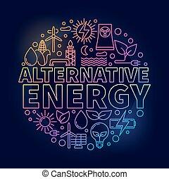 alternativa, coloridos, energia, ilustração