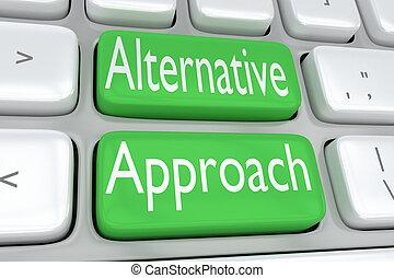 alternativa, conceito, aproximação