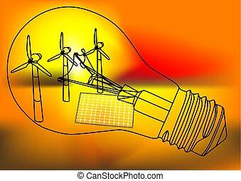 alternativa, conceito, energia