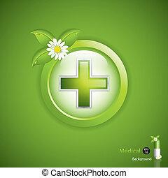 alternativa, conceito, medicação