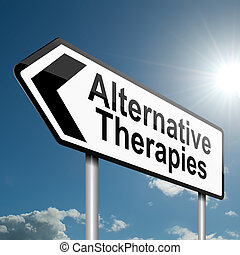 alternativa, concept., terapie