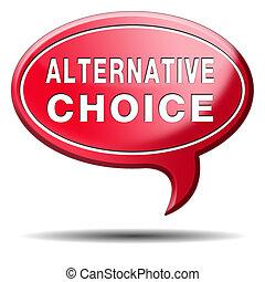 alternativa, escolha