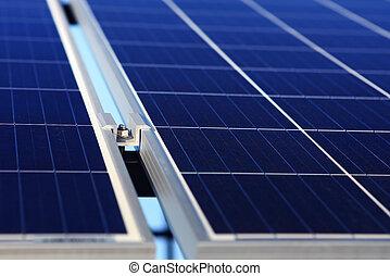 alternativa, fundo, energia, solar