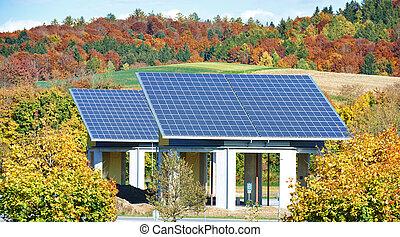 alternativa, painéis, -, energia, solar