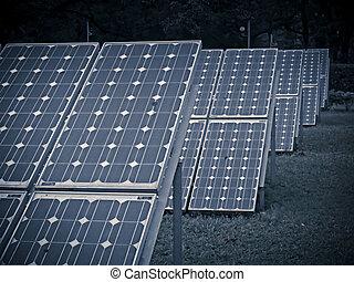 alternativa, pannelli, energia, solare