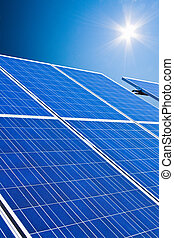 alternativa, solar, energy., potencia, plant.