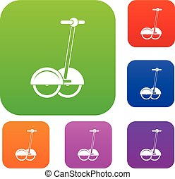 alternativa, trasporto, veicolo, set, colorare, collezione