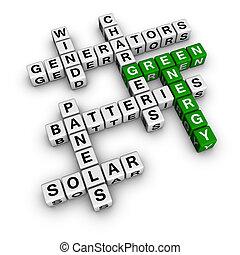 alternativa, verde, energía