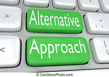 Alternative Approach concept - 3D illustration of computer ...