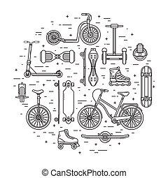 Alternative City Transport Concept in Circle