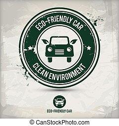 alternative eco friendly car stamp